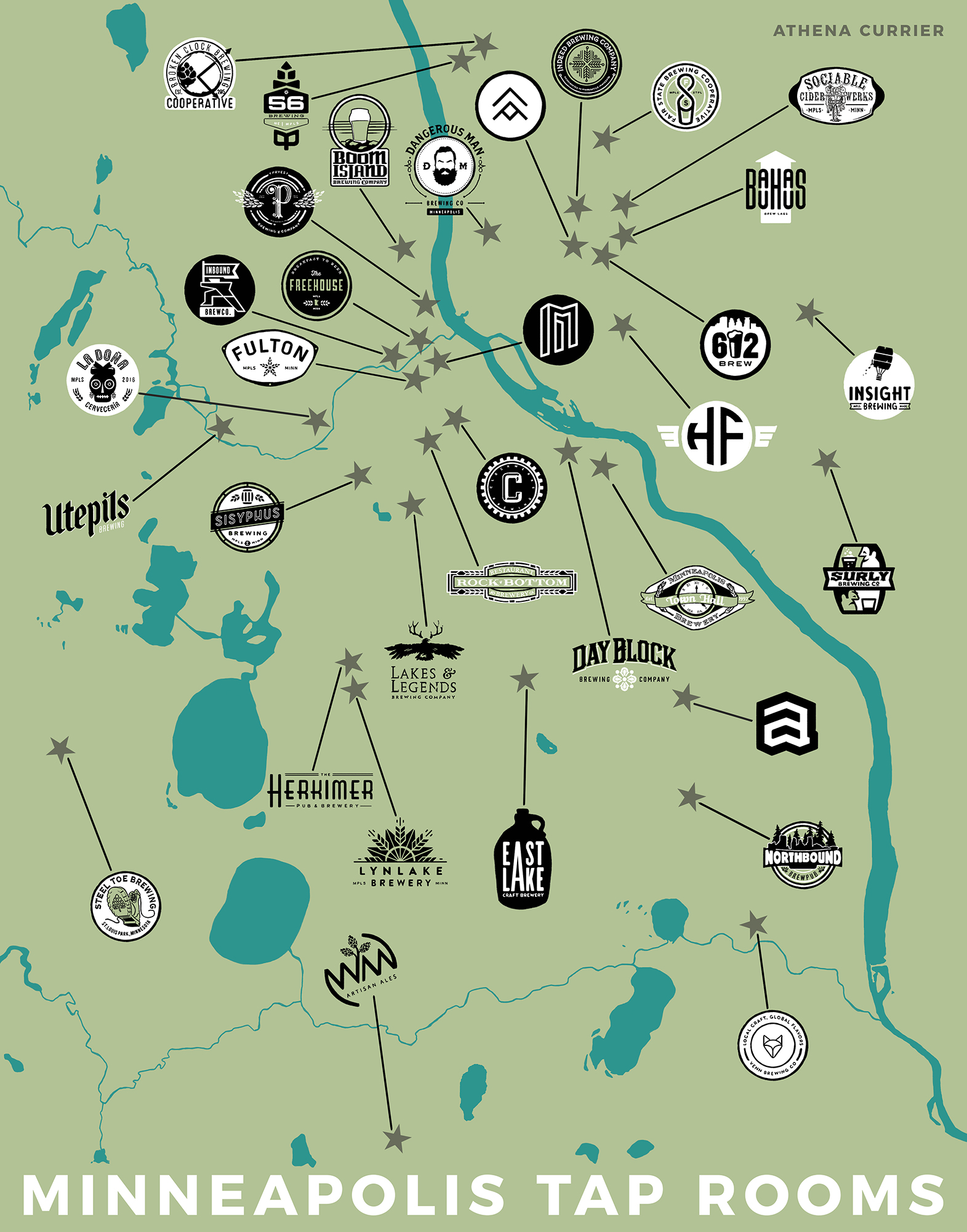 UPDATED: Minneapolis Taproom Map